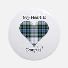 Heart-Campbell dress Round Ornament
