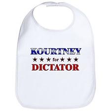 KOURTNEY for dictator Bib