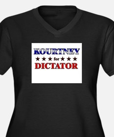 KOURTNEY for dictator Women's Plus Size V-Neck Dar