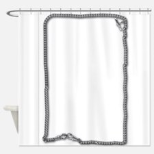 Silver Watch Chain Shower Curtain