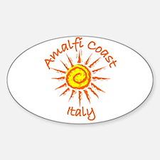Amalfi Coast, Italy Oval Decal