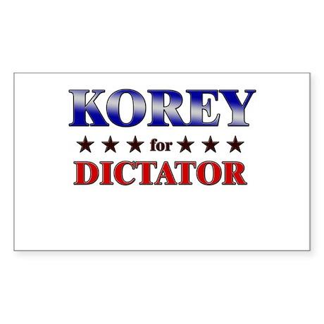 KOREY for dictator Rectangle Sticker