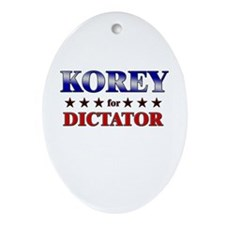 KOREY for dictator Oval Ornament