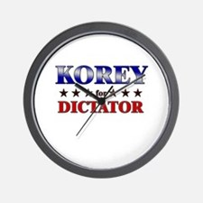 KOREY for dictator Wall Clock