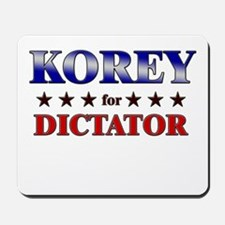 KOREY for dictator Mousepad