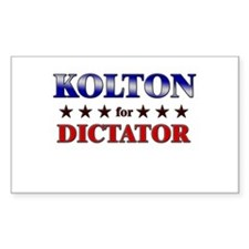 KOLTON for dictator Rectangle Decal