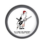 Two Front Teats Wall Clock