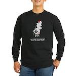Two Front Teats Long Sleeve Dark T-Shirt
