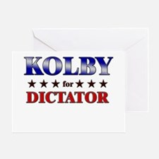 KOLBY for dictator Greeting Card