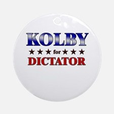 KOLBY for dictator Ornament (Round)