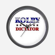 KOLBY for dictator Wall Clock