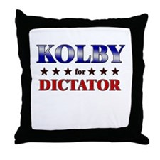 KOLBY for dictator Throw Pillow