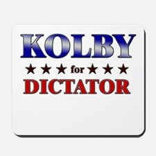 KOLBY for dictator Mousepad