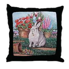 Dittle the rabbit Throw Pillow