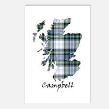 Map-Campbell dress Postcards (Package of 8)