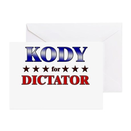 KODY for dictator Greeting Cards (Pk of 20)