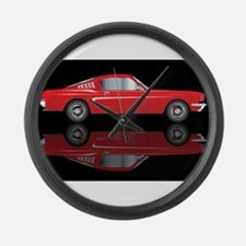 Very Fast Red Car Large Wall Clock