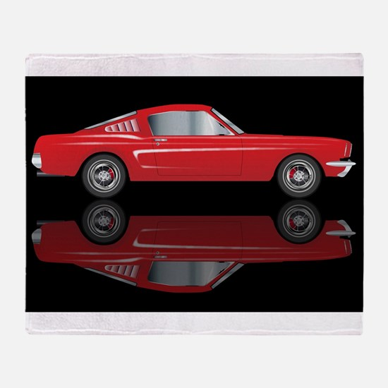 Very Fast Red Car Throw Blanket