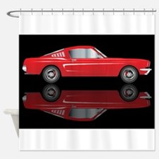 Very Fast Red Car Shower Curtain
