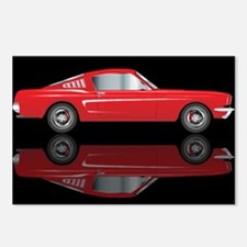 Very Fast Red Car Postcards (Package of 8)
