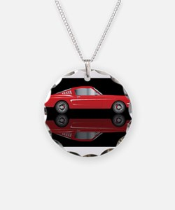 Very Fast Red Car Necklace