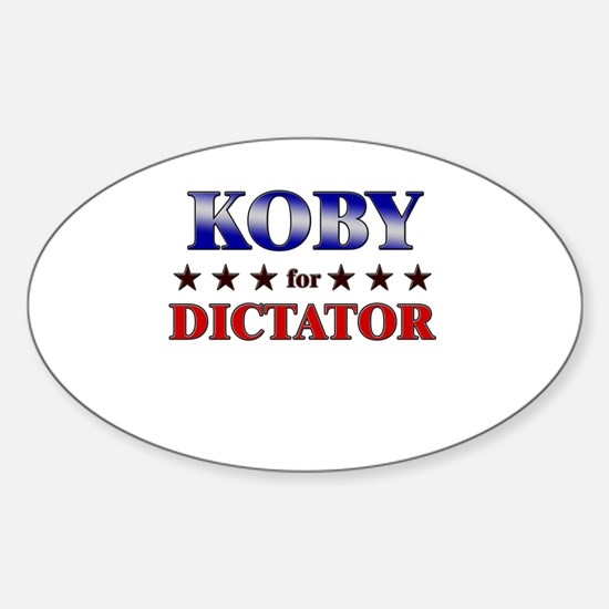 KOBY for dictator Oval Decal