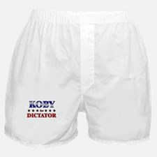 KOBY for dictator Boxer Shorts