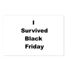 I Survived Black Friday Postcards (Package of 8)