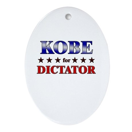 KOBE for dictator Oval Ornament