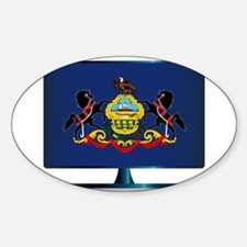 Pennsylvania Flag TV Decal