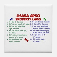 Lhasa Apso Property Laws 2 Tile Coaster