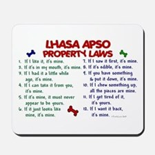 Lhasa Apso Property Laws 2 Mousepad