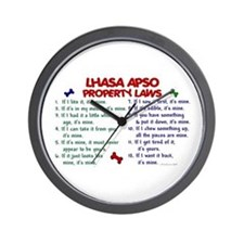 Lhasa Apso Property Laws 2 Wall Clock