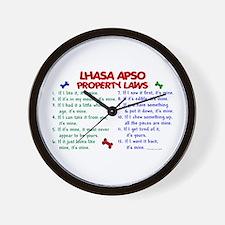 Lhasa Apso Property Laws 2 Wall Clock