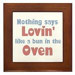 Lovin' Bun in the Oven Framed Tile
