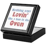 Lovin' Bun in the Oven Keepsake Box