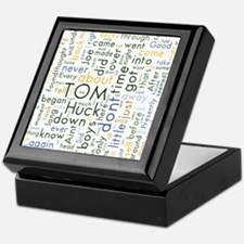 Tom Sawyer Word Cloud Keepsake Box