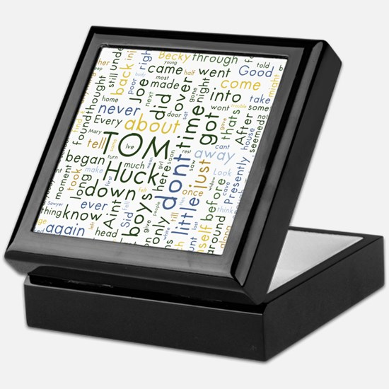 Tom Sawyer Word Cloud Keepsake Box