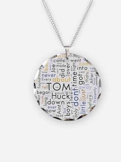 Tom Sawyer Word Cloud Necklace