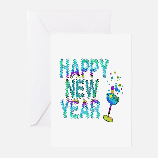 Happy New Year 1 & 2 - Greeting Cards (Pk of 20)