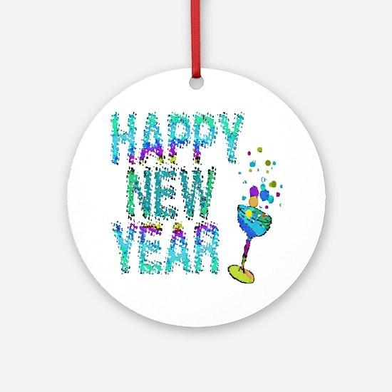 Happy New Year 1 & 2 - Ornament (Round)