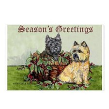 Christmas Cairn Terrier Postcards (Package of 8)