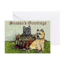 Christmas Cairn Terrier Greeting Cards (Pk of 10)