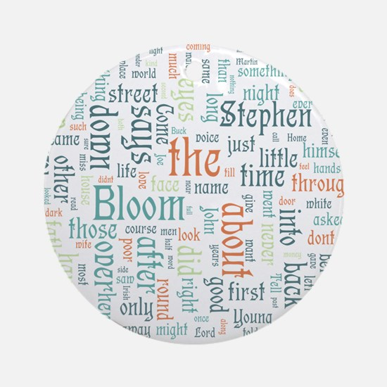 Ulysses Word Cloud Round Ornament