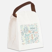 Ulysses Word Cloud Canvas Lunch Bag