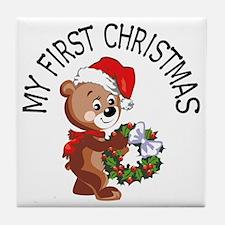 My 1st Christmas Bear Tile Coaster