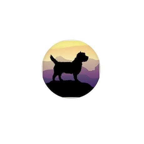 Cairn Terrier Purple Mt. Mini Button (10 pack)