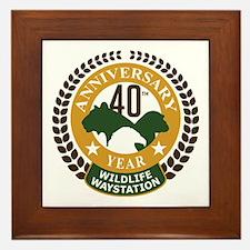 Wildlife Waystation 40th Ann Framed Tile