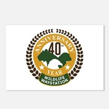 Wildlife Waystation 40th Postcards (Package of 8)
