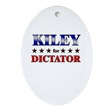 KILEY for dictator Oval Ornament